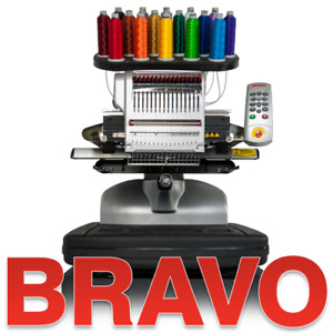 Melco BRAVO Commerical 16 Needle Embroidery Machine Package B