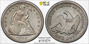 1850-O Seated Liberty DOLLAR >PCGS XF< RARE, 40K >SUPER FAST SHIPPING!!!