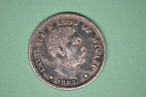 1883 Hawaii Dime- Strong EF.  Nice RARE COIN!