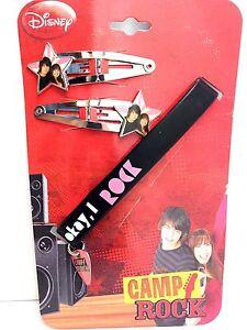 Walt Disney Camp Rock Star Photo Hair Clips Pins and Guitar Pick Wristband Jonas