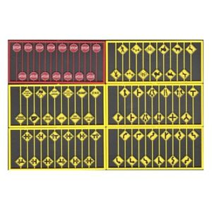 HO Pack of Road Signs (48 Different) - Tichy Train Group #8257  vmf121