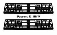 2 x Kennzeichenhalter Schwarz Glanz Nummernschildhalterung passend für BMW N2