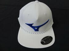 Mizuno FlexFit Tech 110 Runbire Rope Snapback Golf Hat White 11401