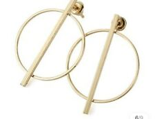 Earring Boho Festival Party Boutique Uk Gold Hoop Ring Small Geo Luxury Fashion
