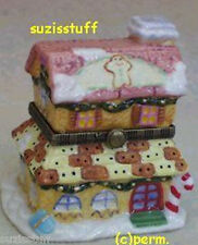 CANDY CANE COTTAGE-Porcelain Hinged-Box.. SO ADORABLE!
