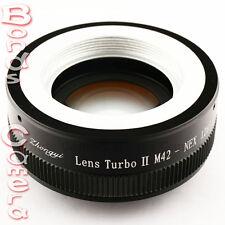 Zhongyi Focal Reducer Booster Lens Turbo II M42 to Sony E Adapter NEX-7 5T A5000