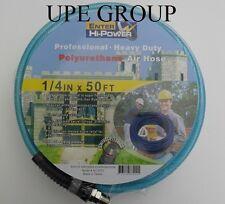 "1/4"" x 50 ft AIR COMPRESSOR HOSE  POLYURETHANE 300 psi  1/4"" fittings air tool"