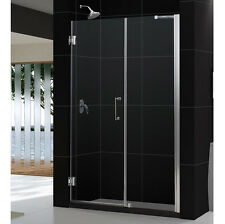 "UNIDOOR 52"" - 53"" DREAMLINE 3/8"" GLASS FRAMELESS PIVOT SHOWER DOOR CUSTOM SIZE"