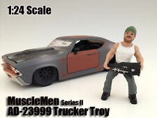 MUSCLEMEN TRUCKER TROY FIGURE FOR 1:24 SCALE MODELS BY AMERICAN DIORAMA 23999