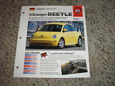 Germany 1998-Present Vw New Beetle Hot Cars Group 5 # 65 Spec Sheet Brochure