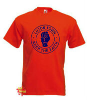 LUTON TOWN Keep The Faith Hatters football T SHIRT All Sizes