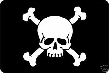 Laptop,Window, Car Sticker Decal Skull and Crossbones