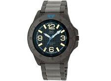Q&Q Q276J405Y Mens Dress Sport Watch Bracelet Yellow Gold Marker Wristwatch New