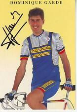 carte cycliste DOMINIQUE GARDE équipe CASTORAMA 1991 signée