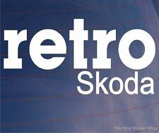 RETRO SKODA Classic Vintage Car/Window/Bumper Novelty Vinyl Sticker/Decal