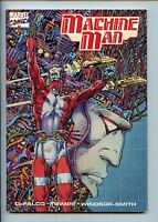 Machine Man Tpb GN 1st Print Marvel Comics NM 1988 F6