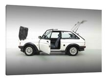 1989 Ford Fiesta XR2 - 30x20 Inch Canvas - Framed Picture Print Art