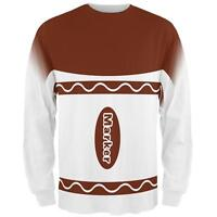 Halloween Marker Costume Brown All Over Mens Long Sleeve T Shirt