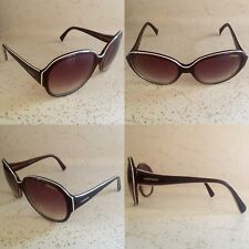 3ea73913f30 EUC CARRERA COLETTE 7SV S8 ROUND OVERSIZED BROWN WHITE SUNGLASSES FRAMES  135 17