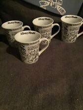 New ListingDisney Mickey Mouse Sketchbook Coffee Mugs Cups Set of 4 - 90 Years of Magic