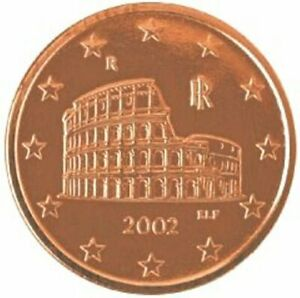 2002 ITALY 5 CENT KM 212  1ST YEAR EUROPEAN UNION EURO'S  BU COINS   EURO