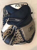 Reebok Koho Lefevre RBK-L Pro Goalie Glove Catcher Mitt Ice Hockey Black Silver