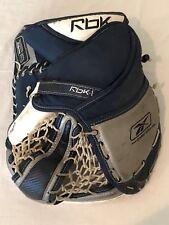 b1bcd22d764 Reebok Koho Lefevre RBK-L Pro Goalie Glove Catcher Mitt Ice Hockey Black  Silver