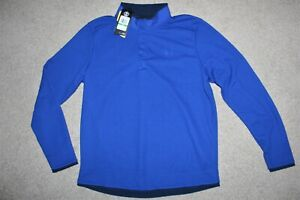 NWT Men Sz Large Under Armour Coldgear SnapNeck Golf Pullover Jacket Sweater Top