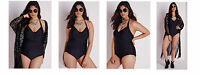 NEW Classic Black Halter Slinky Swimming Costume PLUS SIZE 18 -24 Be CURVE