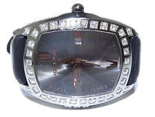 Mens XL Aqua Swiss 4.60ct Round Cut White Diamond Stainless Steel Watch