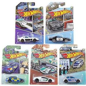 Hot Wheels Walmart Exclusive Police Series Complete Set 1-5