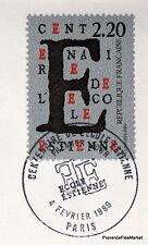 ECOLE ESTIENNE Yt 2563 FRANCE  LETTRE FDC Enveloppe Premier jour