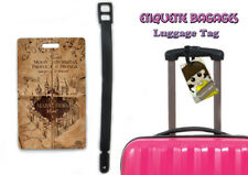 harry potter - marauder's map  #01-019 - étiquette bagage nom lugguage tag name