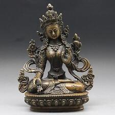 Old collections chinese Tibet Brass Tibetan Buddhism Statue ---- White tara