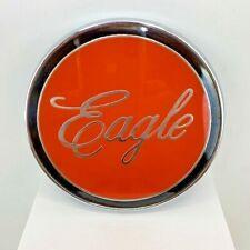 Eagle Truck Emblem 5 Inch Round Orange & Black With Chrome Exterior Emblem NOS