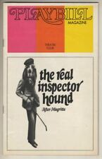 """Tom Stoppard  """"The Real Inspector Hound""""    """"After Magritte""""   Playbill  1973"""