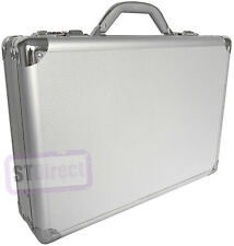 Pro Aluminium Silver Laptop Padded Briefcase Attache Case Hard Carry Flight Bag