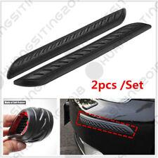 2× Black Car Rubber Bumper Corner Protector Anticollision Guard Lip Crash Cover