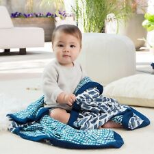 aden and anais baby muslin silky soft bamboo dream blanket: seaport