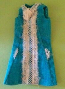 Vintage Francie Turquoise White Lace #1274 Original Dress