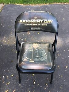 WWE Judgement Day 2009 Collectible Chair Edge