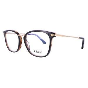 CHLOE Eyeglasses CE2734 004 Black-Havana Rectangle Women 53x17x140