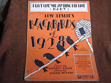 I Can't Give You Anything but Love/Lew Leslie's Blackbirds of 1928/Sheet Music