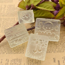Soap Making DIY Mould Stamp Resin Heart Mold Handcraft Clear Handmade