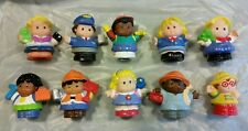 Lot of 10 Little People Fisher Price Figures Girls Boys Police Assortment