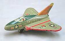 Vintage Tin Airplane Sky Ray - Made in Japan