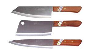 3 x Kiwi thai Küchenmesser Kochmesser Hackmesser Hackbeil # 830 173 288 Messer