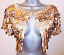 BNWT Trinny & Susannah Gold Embellished Deco 20's Flapper Cape Shrug Size 12 NEW