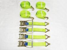 x4 50MM 8M 5 Ton High Visibility Ratchet Straps - Luminous 5000KG Lashing Tie
