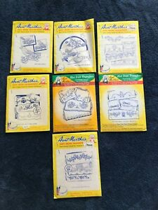 Lot of 11 Aunt Martha's Hand Sewing Embroidery Patterns-Pillow Slips/Pillow Case